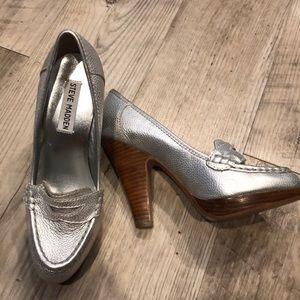 Silver Steve Madden Heels